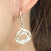Wayu Silver Hoop Earrings