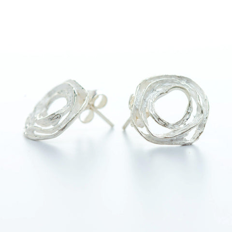 Wayu Silver Stud Earrings