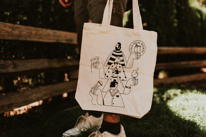 Re-useable organic cotton tote bags