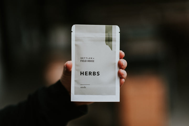 Field House Brewing X Settler Hives - Coriander (cilantro) seeds in a green and white packet. Used in our beer program regularly in Abbotsford BC.