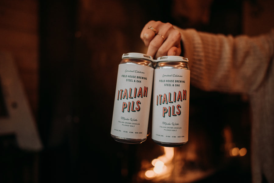 Field House x Steel & Oak Italian Pils - 4x473ml