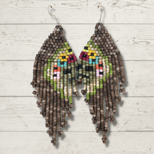 Load image into Gallery viewer, Long Tikal Harmony Earrings