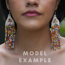 Load image into Gallery viewer, Long Tikal Earrings