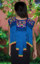 Load image into Gallery viewer, Huipil Poncho - Diamante Azur