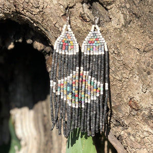 Long Tikal Harmony Earrings