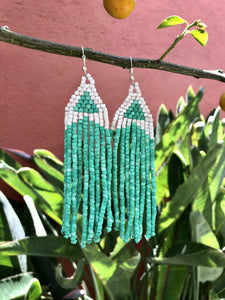 Long Tikal Earrings