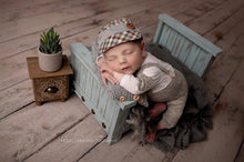 "Load image into Gallery viewer, Studded Newborn Bed - ""The Dylan"""