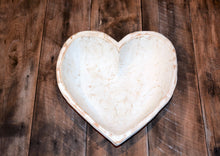 Load image into Gallery viewer, Twin Size Hand Carved Heart Bowls