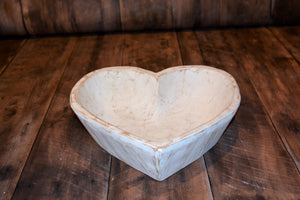 Twin Size Hand Carved Heart Bowls