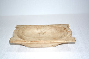 Hand Carved Trencher Dough Bowl
