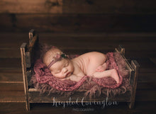 "Load image into Gallery viewer, Rustic Newborn Bed - ""The Holly Anne"""