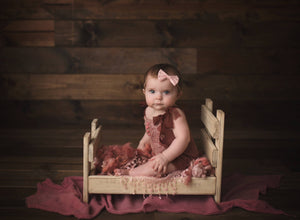 "Rustic Newborn Bed - ""The Holly Anne"""