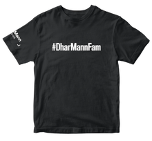 Load image into Gallery viewer, dharmannfam t shirt black