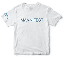 Load image into Gallery viewer, mannifest t shirt white dhar mann merch