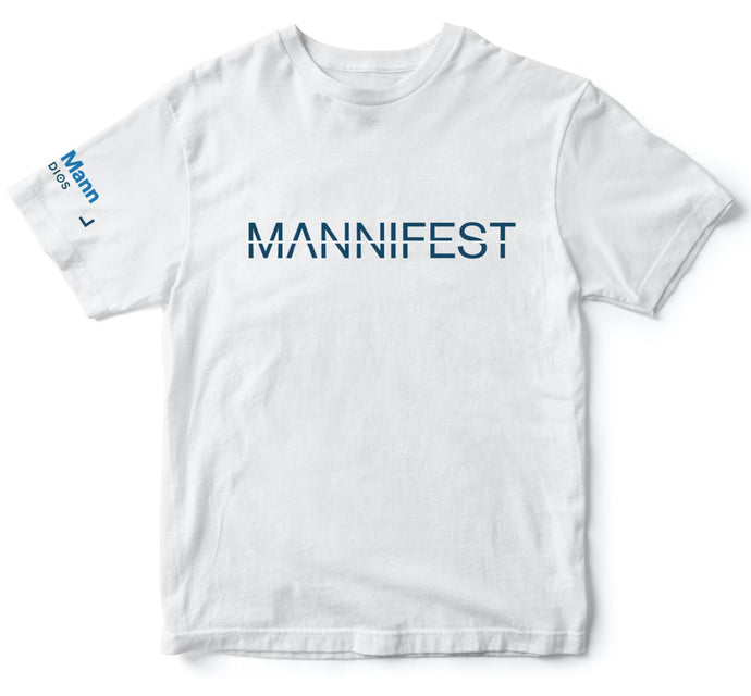 mannifest t shirt white dhar mann merch