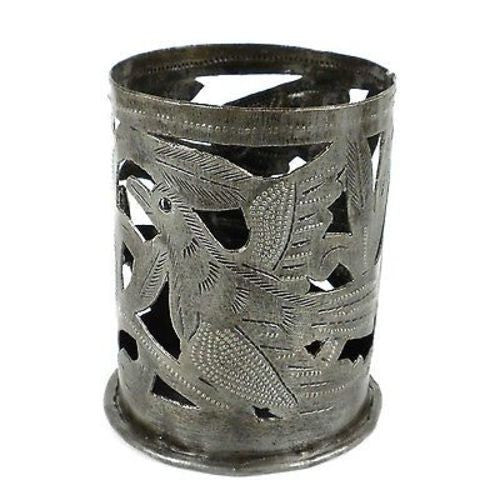 Metal Art Candle Holder - Bird Design - Croix des Bouquets (O) - Sunstone Holistic Health and Healing