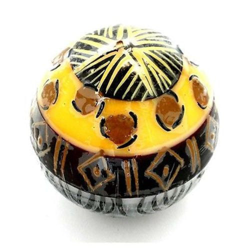 Hand-Painted Ball Candle - Uzima Design - Nobunto - Sunstone Holistic Health and Healing