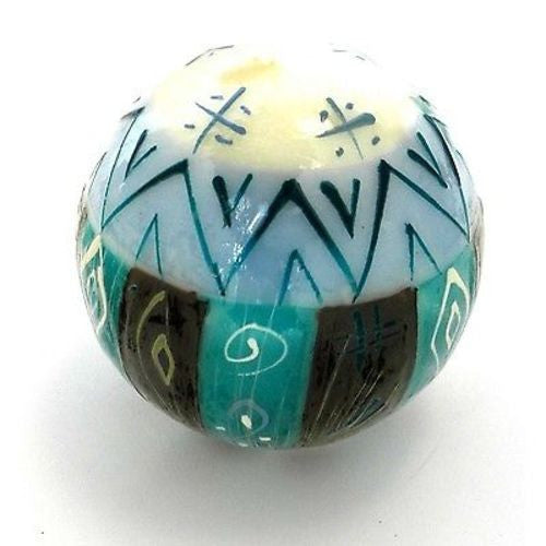 Hand-Painted Ball Candle - Maji Design - Nobunto - Sunstone Holistic Health and Healing