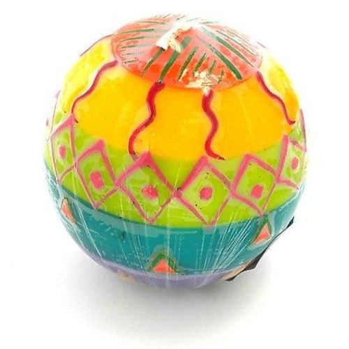 Hand-Painted Ball Candle - Shahida Design - Nobunto - Sunstone Holistic Health and Healing