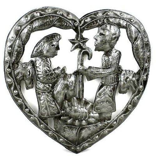 Heart Nativity Wall Art - Croix des Bouquets (H) - Sunstone Holistic Health and Healing