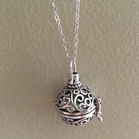 Ball Diffuser Necklace - Silver