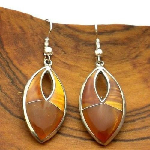 Honey Drops Alpaca Silver Earrings - Artisana - Sunstone Holistic Health and Healing