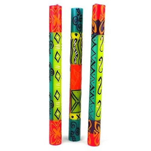 Set of Three Boxed Tall Hand-Painted Candles - Matuko Design - Nobunto - Sunstone Holistic Health and Healing