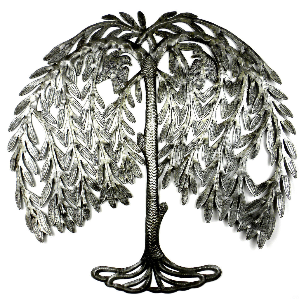 Weeping Willow Metal Art - Croix des Bouquets
