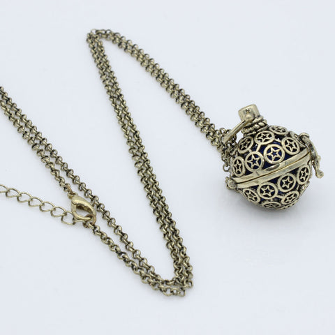 Ball Diffuser Necklace - Bronze
