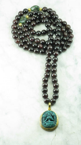 Green Tara Mala Necklace