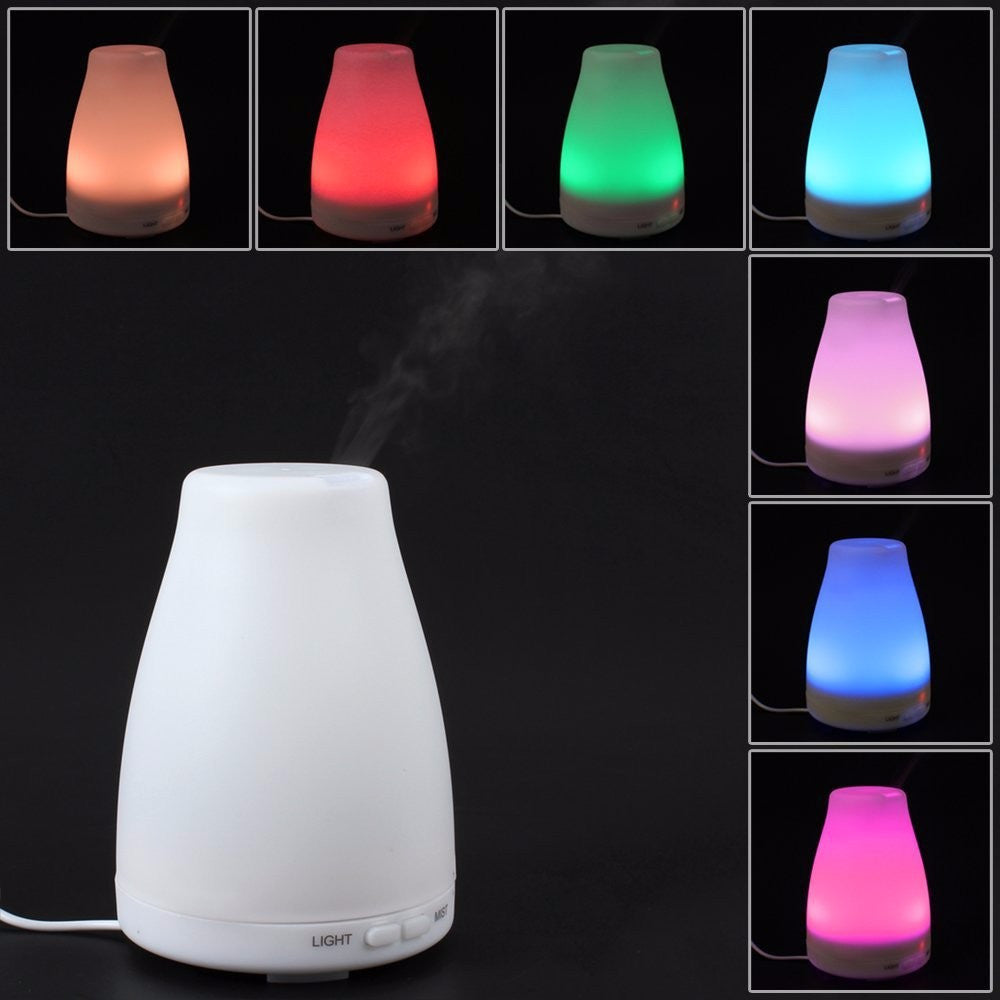 Color Changing LED Ultrasonic Air Humidifier Purifier Essential Oil Diffuser - Sunstone Holistic Health and Healing