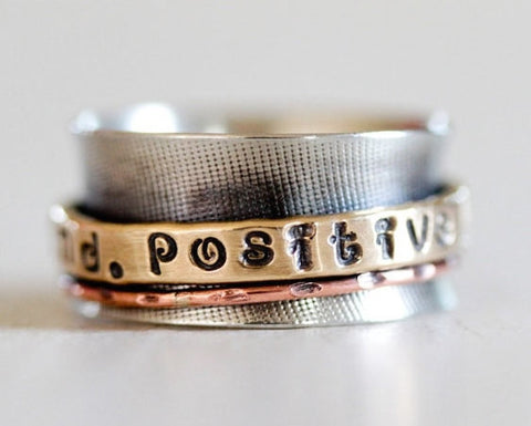 Positive Mind Spinner Ring