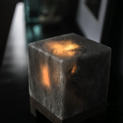 Cube Grey Himalayan Salt Lamp - Sunstone Holistic Health and Healing