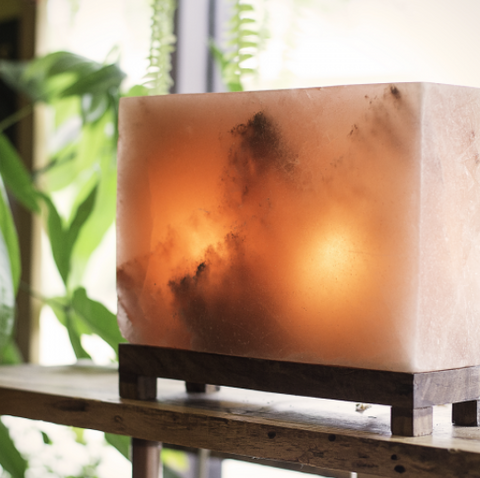 Amber Rectangle Himalayan Salt Light