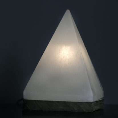 White Pyramid Himalayan Salt Lamp - Sunstone Holistic Health and Healing