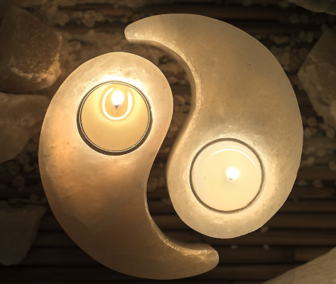 Himalayan Salt Yin Yang Candle Holder