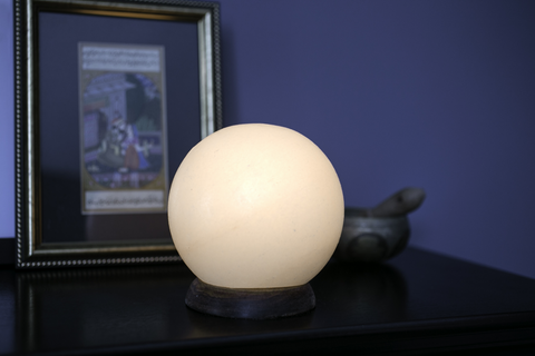 White Globe Himalayan Salt Lamp