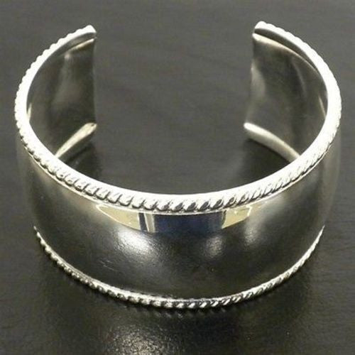 Silver Overlay Cuff  Smooth Design - Artisana - Sunstone Holistic Health and Healing