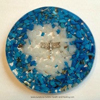 Blue Dragonfly Coaster - Sunstone Holistic Health and Healing