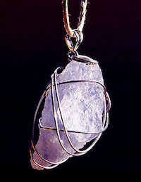 Persian Blue Crystal Energy Pendant