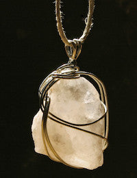Persian White Crystal Energy Pendant - Sunstone Holistic Health and Healing