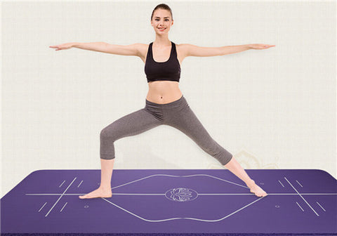 Position Line Yoga Mat