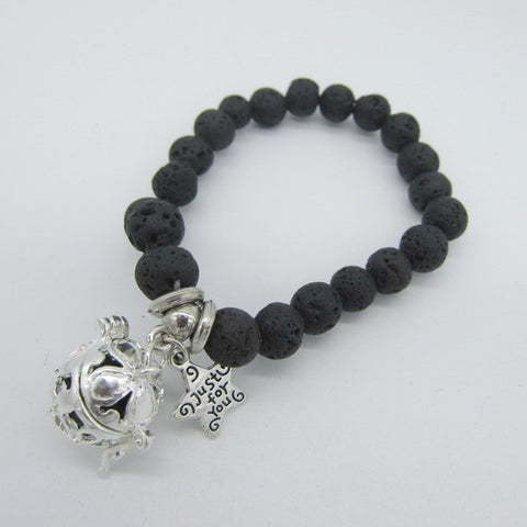 Lava Beads Bracelet with Charm | Just For You