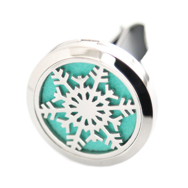 Car Aroma Essential Oil Diffuser - Snowflake - Sunstone Holistic Health and Healing