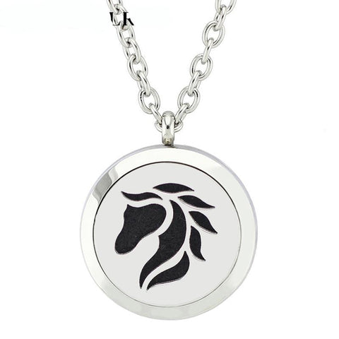 Horse Head Diffuser Necklace