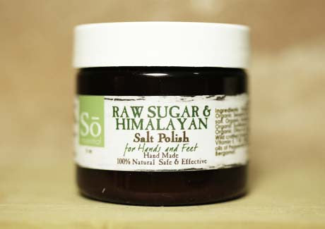 Essential Raw Sugar & Himalayan Salt Polish for Hands & Feet