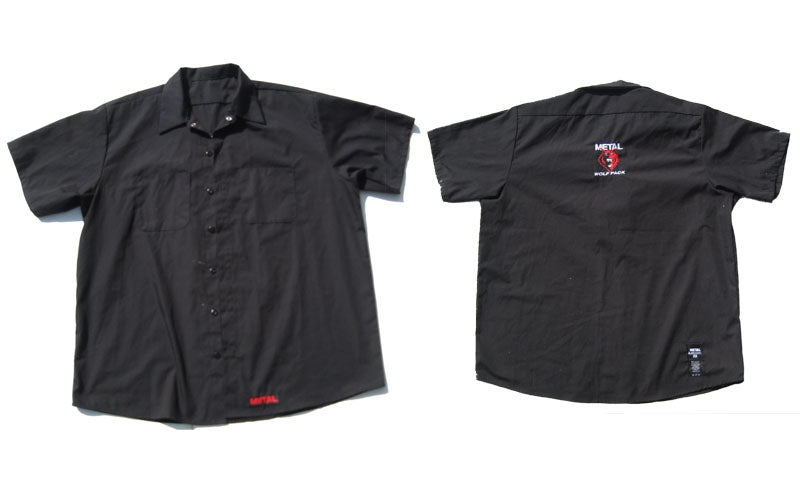 METAL Wolf Pack Collared Embroidered Shirt