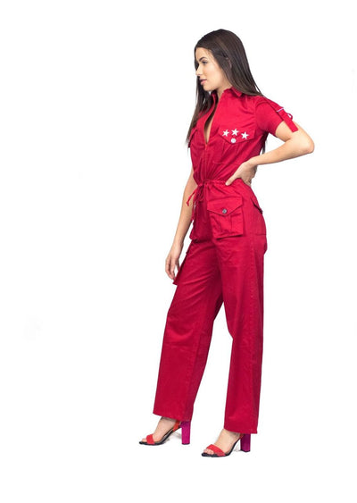 Little Wing Red Jumpsuit