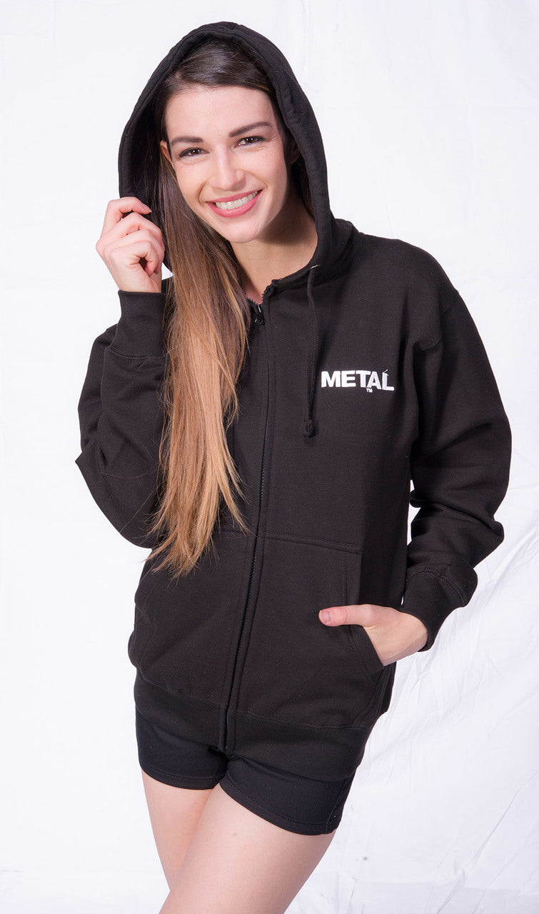 Women's METAL Zippered Hoodie