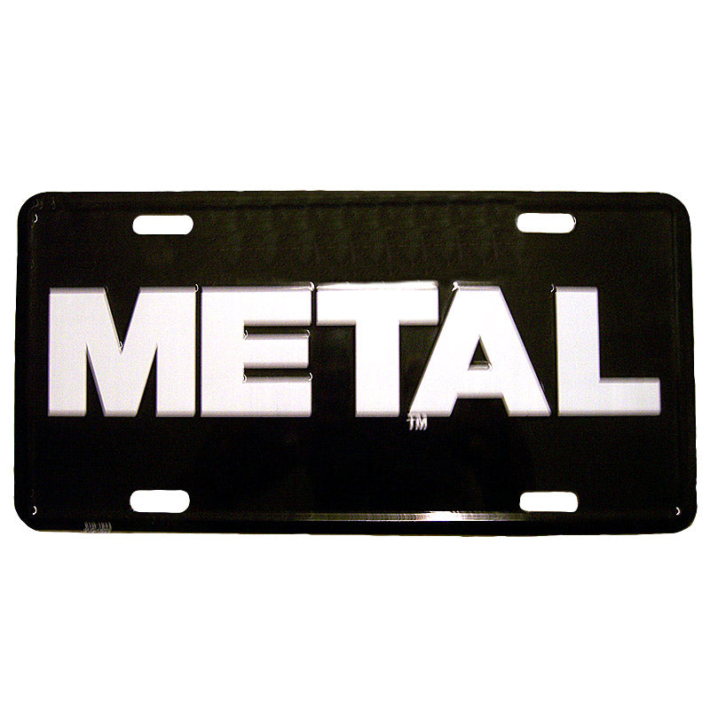 METAL License Plate Black